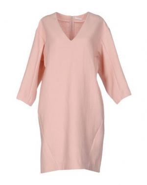 Короткое платье D.EFECT. Цвет: светло-розовый