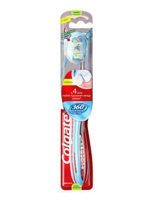 Зубная щетка 360 Межзубная чистка средняя COLGATE. Цвет: синий, оранжевый, фиолетовый