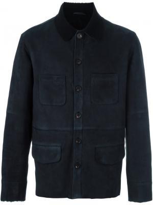 Куртка-дубленка Desa 1972. Цвет: синий