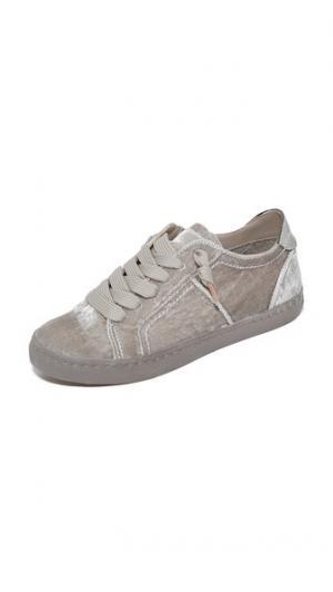Бархатные кроссовки Zalen Dolce Vita. Цвет: норка