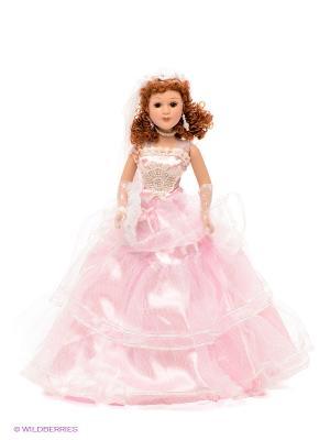 Кукла фарфоровая Лоретта Lisa Jane. Цвет: белый, бледно-розовый