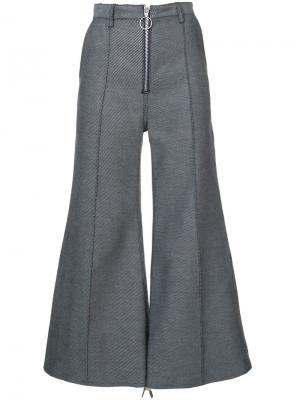 Укороченные брюки клеш Marquesalmeida Marques'almeida. Цвет: серый