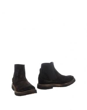 Полусапоги и высокие ботинки YAB. Цвет: темно-коричневый