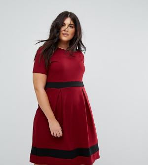 Praslin Приталенное платье. Цвет: красный