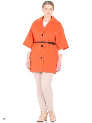 Пальто LILIYA. Цвет: оранжевый