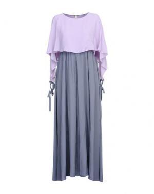 Длинное платье OBLIQUE CREATIONS. Цвет: сиреневый