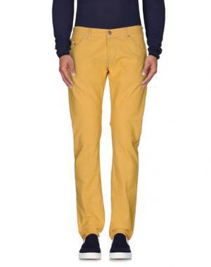Джинсовые брюки DONDUP. Цвет: желтый