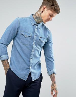 Lee Джинсовая рубашка в стиле вестерн Jeans. Цвет: синий