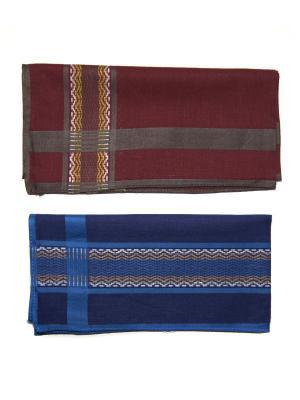 Носовой платок, 2 шт Lola. Цвет: синий, темно-бордовый