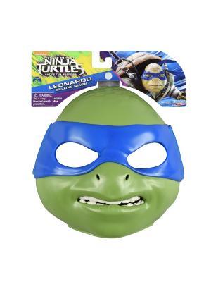 Маска Черепашки-ниндзя, Леонардо, серия Movie Line 2016 Playmates toys. Цвет: зеленый, синий