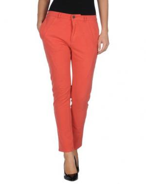 Повседневные брюки SUPERFINE. Цвет: коралловый