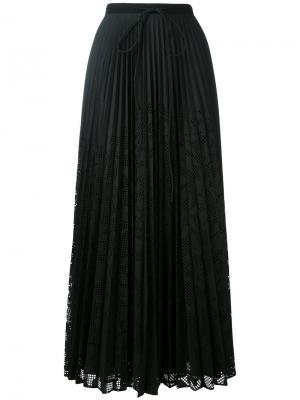 Длинная плиссированная юбка Veronique Branquinho. Цвет: чёрный