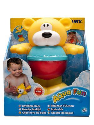 Игрушка для ванны Медведь Tomica. Цвет: желтый