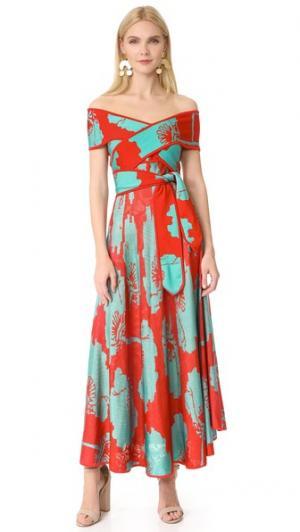 Платье Papoula Pepa Pombo. Цвет: знаменитость/бирюзовый