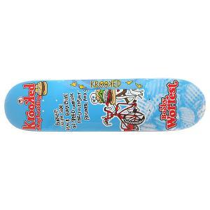 Дека для скейтборда  Worrest Burger Gang Light Blue/Multi 32 x 8.125 (20.6 см) Krooked. Цвет: голубой,мультиколор