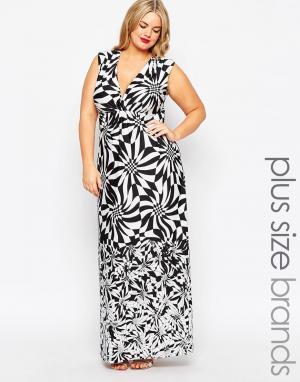 Gemma Collins Платье макси с животным принтом и запахом