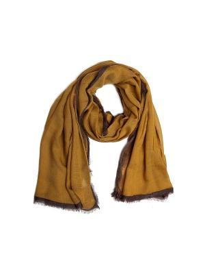 Шарф Kameo-bis. Цвет: горчичный, коричневый