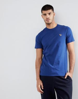 PS Paul Smith Синяя футболка узкого кроя с логотипом-зеброй. Цвет: синий