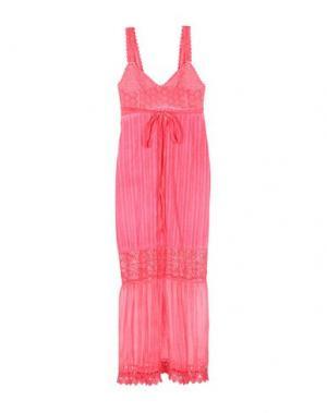 Длинное платье ANGELA MELE MILANO. Цвет: коралловый