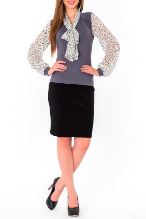 Блуза S&A style. Цвет: серо-белый