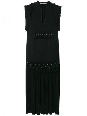Платье без рукавов Veronique Branquinho. Цвет: чёрный