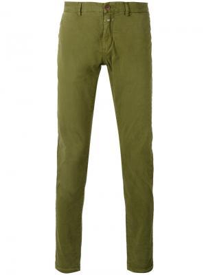 Классические брюки Closed. Цвет: зелёный