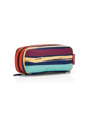 Косметичка Multicase artist stripes Reisenthel. Цвет: синий,сливовый,оранжевый