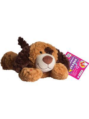 Мягкая игрушка Пес Шнурок, 4 сказки Kribly Boo. Цвет: коричневый