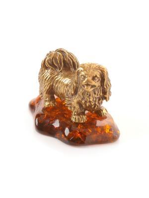 Фигура Собака  Пекинес Aztek. Цвет: желтый, коричневый, светло-оранжевый