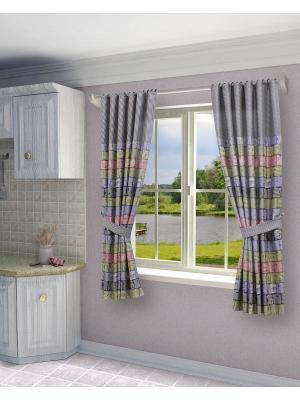 Комплект штор SANPA HOME COLLECTION. Цвет: розовый, синий