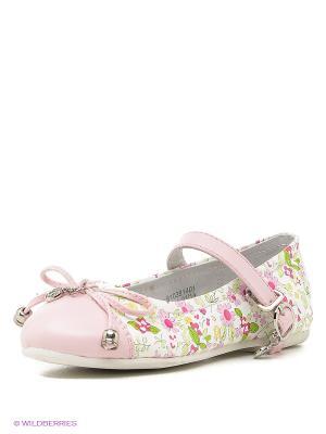 Туфли ТОПОТАМ. Цвет: бледно-розовый, белый, зеленый