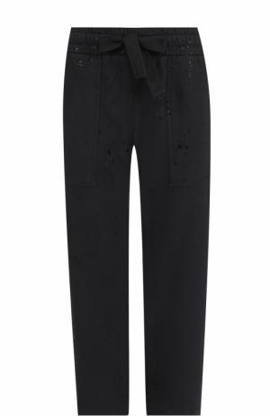 Укороченные брюки прямого кроя с эластичным поясом Deha. Цвет: черный