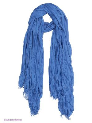 Платок Laura Milano. Цвет: синий, голубой, белый