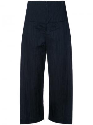 Укороченные брюки Elliott Zero + Maria Cornejo. Цвет: синий