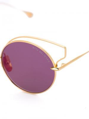 Солнцезащитные очки Believer Dita Eyewear. Цвет: металлический