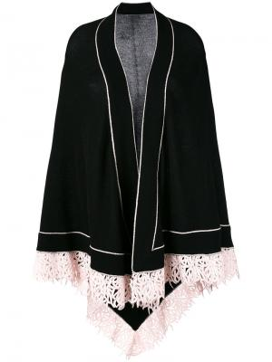 Contrast cardi-coat Antonia Zander. Цвет: чёрный