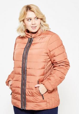 Куртка утепленная Zizzi. Цвет: оранжевый