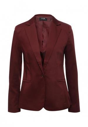 Пиджак oodji. Цвет: бордовый