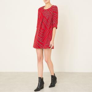 Платье короткое TALWEG BA&SH. Цвет: красный