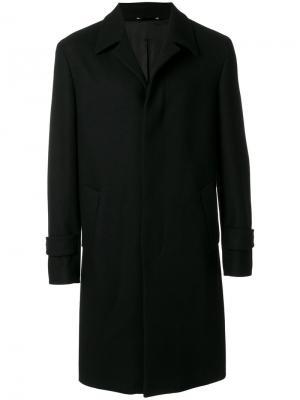 Пальто с потайной застежкой на пуговицах Hevo. Цвет: чёрный