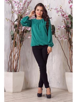 Блузка LIORA. Цвет: зеленый