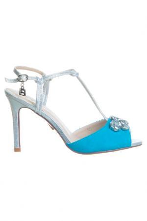 High heels sandals Laura Biagiotti. Цвет: light blue, silver