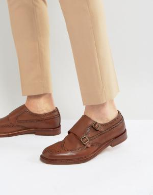 ALDO Замшевые оксфорды со вставкой на носке Briladien. Цвет: рыжий