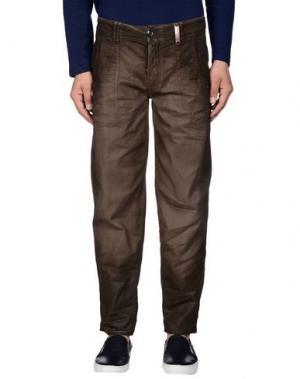 Джинсовые брюки HIGH. Цвет: хаки