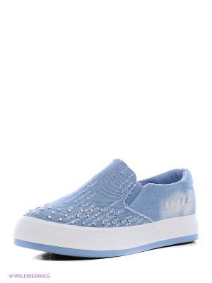 Слипоны GOGC. Цвет: голубой