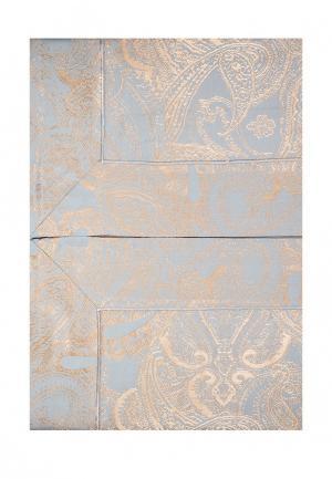 Комплект постельного белья Семейный Asabella. Цвет: голубой