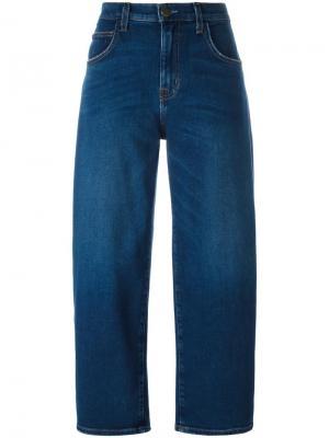 Укороченные джинсы  barrel Current/Elliott. Цвет: синий