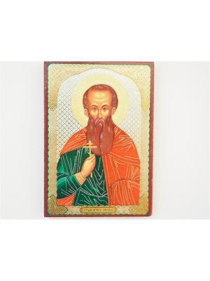 Именная икона Леонид Bethlehem Star. Цвет: коричневый