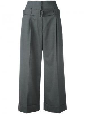 Укороченные брюки Brunello Cucinelli. Цвет: серый