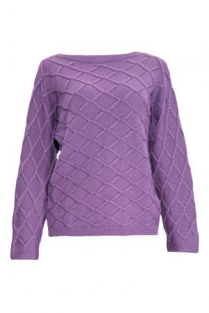 Джемпер из шелка с кашемиром 136703 Sweet Sweaters. Цвет: фиолетовый